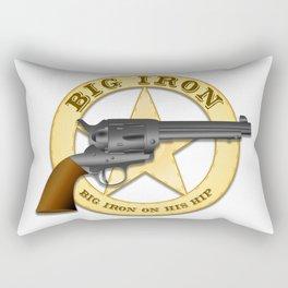 Big Iron Rectangular Pillow