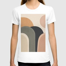 abstract minimal sunrise T-shirt