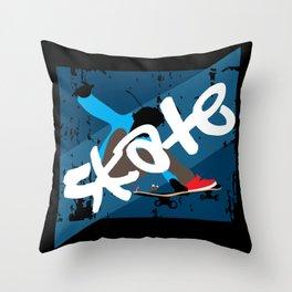 Vintage Skateboard Throw Pillow