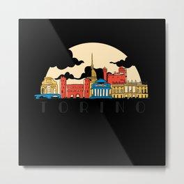 Torino Skyline Italy Metal Print
