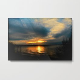 Sunset 091216 Kirby Lake, Abilene, Texas Metal Print