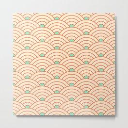 Japanese fan pattern II Metal Print