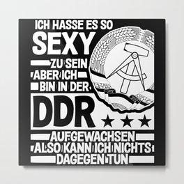 GDR And Sexy Ossi Saying Funny Joke Metal Print