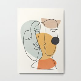 Abstract Faces 30 Metal Print