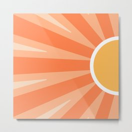 Shiny Sun Metal Print