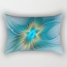 The little Beauty, Abstract Fractal Art Rectangular Pillow