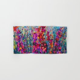 Inhale Love Pollock Inspired Abstract Hand & Bath Towel