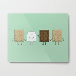 Life is S'more Fun Together (Mint) Metal Print