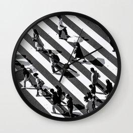 Tokyo Shibuya Crossing bnw print Wall Clock