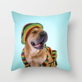 Shar pei Reggae Throw Pillow