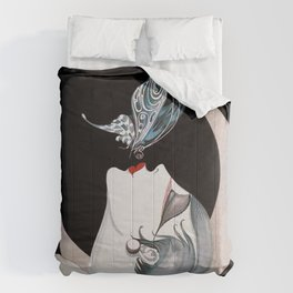 Art Deco Woman Comforters