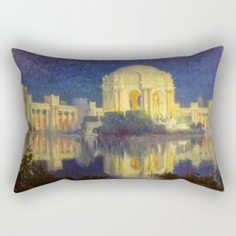 San Francisco Palace of the Fine Arts Temple and Lagoon landscape painting by Colin Campbell Cooper  Rectangular Pillow