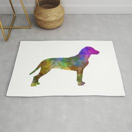 Slovakian Hound in watercolor Rug