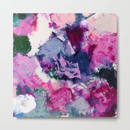 Beautiful Accidents (Purple Flow) Metal Print