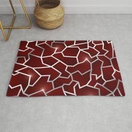 Red Origin - Red Silver Crag Pattern Rug