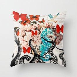 The Garden Of Abundance Throw Pillow