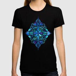 Deep Ocean Art Nouveau Watercolor Doodle T-Shirt