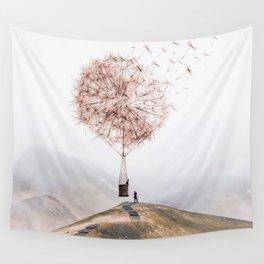 Flying Dandelion Wall Tapestry
