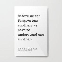 5   Emma Goldman Quotes   200607   The Great Feminist Metal Print