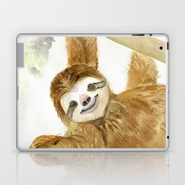 Smiley Sloth Laptop & iPad Skin
