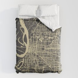 Memphis map yellow Comforters