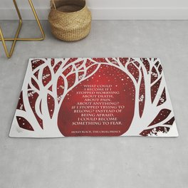 What Could I Become - Cruel Prince Quote Rug