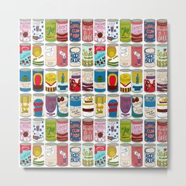 72 cans of soda on a wall Metal Print