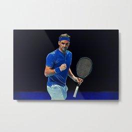 Tennis legend Roger Federer Metal Print
