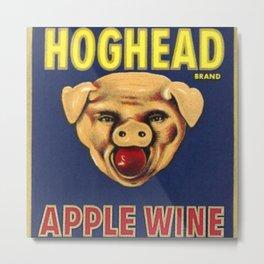 Vintage 1950's Hogshead Wine Bottle Label Print Metal Print