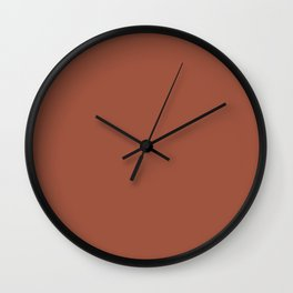 Red Clay Brown Solid Color Behr's 2021 Trending Color Kalahari Sunset MQ1-25 Wall Clock