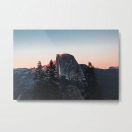 Last Light at Yosemite National Park Metal Print