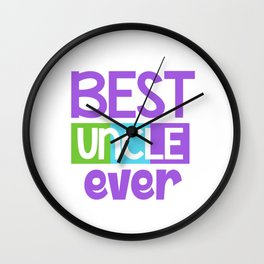 Family Tree Kinship Ancestry Household Love Bloodline Ancestors Best Uncle Ever Uncles Gift Wall Clock