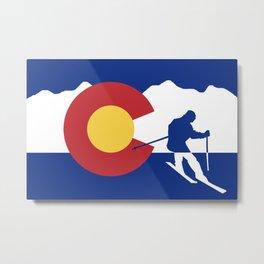Colorado Skier Metal Print