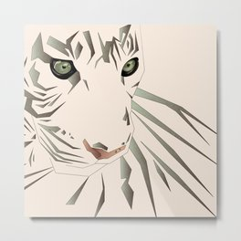 Tiger's Tranquility Metal Print