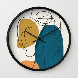 Abstract Faces 26 Wall Clock