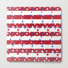 Star Spangled Red and White Stripes Metal Print