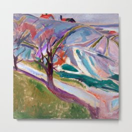 Edvard Munch Landscape of Kragero Metal Print