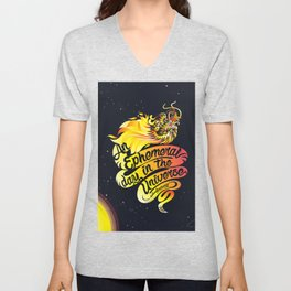 An Ephemeral Day In The Universe by #bizzartino Unisex V-Neck