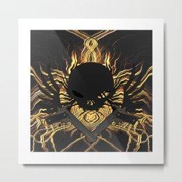 Flames around Metal Print