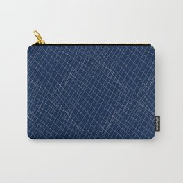Japanese shibori dark blue indigo sapphire white Carry-All Pouch