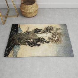 """Daphne Root Bound"" by Arthur Rackham Rug"
