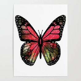 Butterfly Mosaic Poster