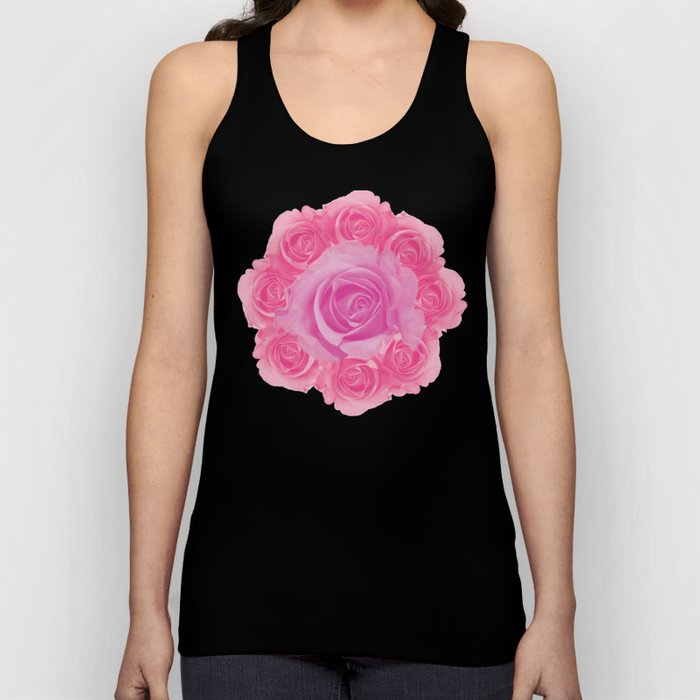 Bouquet of pink roses Unisex Tank Top