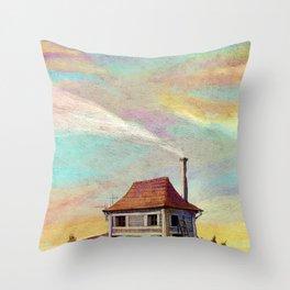last sunset Throw Pillow