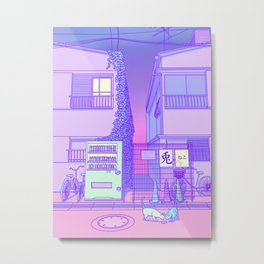 Pastel Tokyo Cats Metal Print