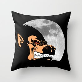 Night Monkey Throw Pillow