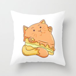 Cat cake sugar candies children gift Throw Pillow