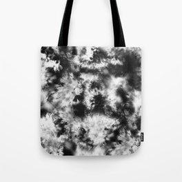 Black and White Tie Dye & Batik Tote Bag