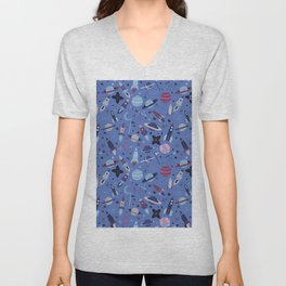 I wish I was a spaceman. Unisex V-Neck