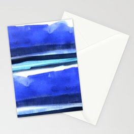 Wave Stripes Abstract Seascape Stationery Cards